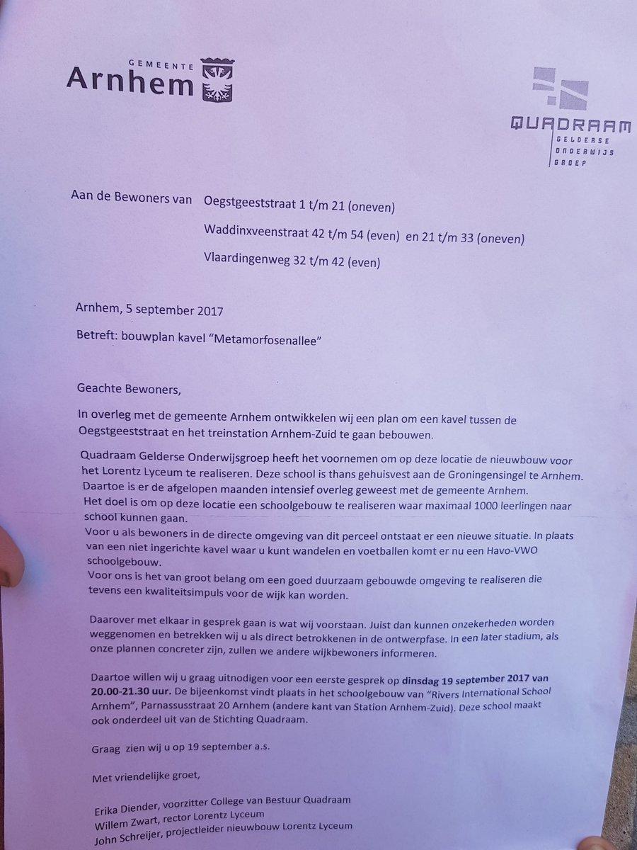 Bewoners elderveld schrikken van nieuwbouw lorentz lyceum for Lorentz lyceum