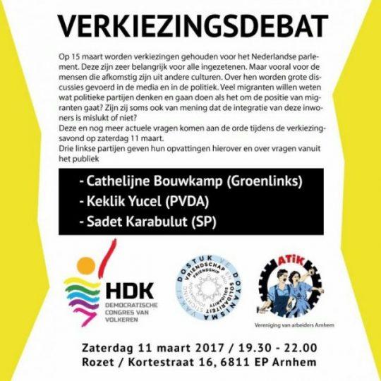 Zaterdag verkiezingsdebat over migranten in Rozet – Arnhem ... Sadet Karabulut